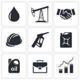 Petroleum industry icon set. On a white background Stock Image
