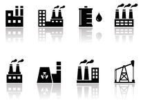 Petroleum industry icons Stock Photography