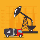 Petroleum industry and oil prices graphic Stock Images