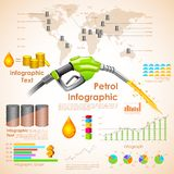 Petroleum Infographic. Illustration of petroleum infographic chart with statistic Stock Photo