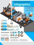 Petroleum Isometric Infographics Stock Photo