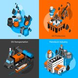 Petroleum Isometric Set Royalty Free Stock Photo