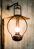 Petroleum lamp. At a stable stock photos