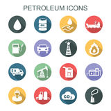 Petroleum long shadow icons. Flat vector icons Royalty Free Stock Images