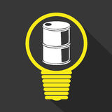 Petroleum or oil barrel icon. Theme design, illustration graphic eps10 royalty free illustration