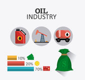 Petroleum and oil industric infographic Stock Photo