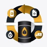 Petroleum and oil industric infographic Royalty Free Stock Photo
