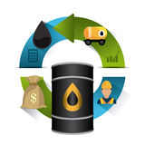Petroleum and oil industric infographic. Petroleum and oil industry infographic design, vector illustration Royalty Free Stock Images