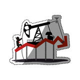 Petroleum oil industry Royalty Free Stock Photo