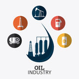 Petroleum and oil industry infographic design Royalty Free Stock Image