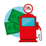 Petroleum and oil industry prices. Design, vector illustration Stock Images