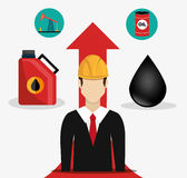 Petroleum and oil industry prices. Graphic design, illustration eps10 stock illustration