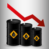 Petroleum and oil prices business Stock Photos