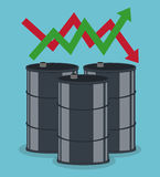 Petroleum and oil prices business Royalty Free Stock Photography