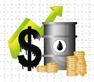 Petroleum and oil prices design. Stock Image