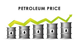 Petroleum and oil prices design. Stock Images