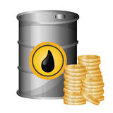 Petroleum and oil prices design. Royalty Free Stock Image