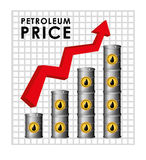 Petroleum and oil prices design. Royalty Free Stock Photography