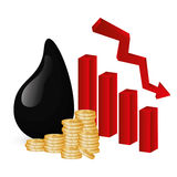 Petroleum and oil prices design. Royalty Free Stock Photos