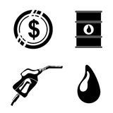 Petroleum and oil prices design. Royalty Free Stock Images