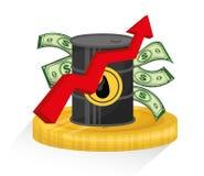 Petroleum and oil prices design. Stock Photos