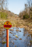 Petroleum Pipeline Easement in Wetlands Royalty Free Stock Photography