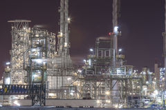 Petroleum plant in night time Stock Photos