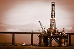 Petroleum platform on the Guanabara bay Royalty Free Stock Photography