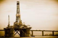 Petroleum platform on the Guanabara bay Stock Images