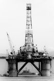 Petroleum platform on the Guanabara bay Royalty Free Stock Photography