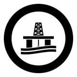 Petroleum platform icon black color vector illustration simple image royalty free illustration
