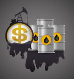 Petroleum Price design. Petroleum price concept with icon design, vector illustration 10 eps graphic Royalty Free Stock Images