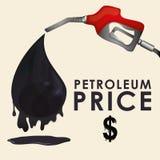 Petroleum price design Stock Photography