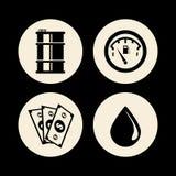 Petroleum price design Stock Images