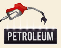 Petroleum price design Royalty Free Stock Photography