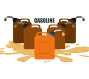 Petroleum price design. Petroleum concept with price icons design, vector illustration 10 eps graphic Royalty Free Stock Photos