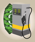 Petroleum price design Royalty Free Stock Images