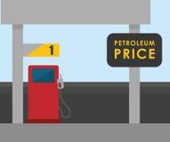 Petroleum price design Stock Photos