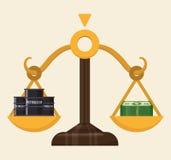 Petroleum price design Royalty Free Stock Image