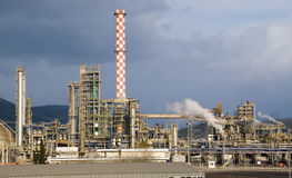 Petroleum Refinery Royalty Free Stock Photo