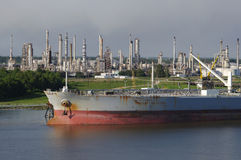 Petroleum Refinery and Tanker Stock Photography