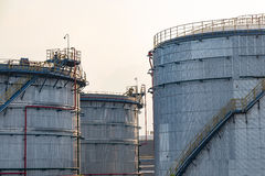 Petroleum reserve tank of oil refinery Royalty Free Stock Photography