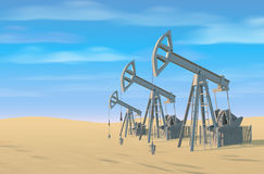Petroleum rigs. Oil drill background. Vector image. Royalty Free Stock Images