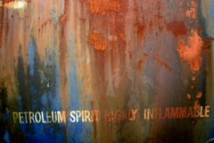 Petroleum Spirit. A rusty petroleum spirit tanker royalty free stock photo