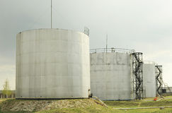 Petroleum storage depot Stock Images