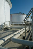 Petroleum storage reservoirs Royalty Free Stock Photo