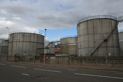 Petroleum storage tanks Stock Images