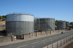 Petroleum storage tanks Royalty Free Stock Photography