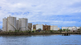 Petroleum storage tanks Royalty Free Stock Images