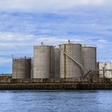 Petroleum Storage Tanks Royalty Free Stock Photo